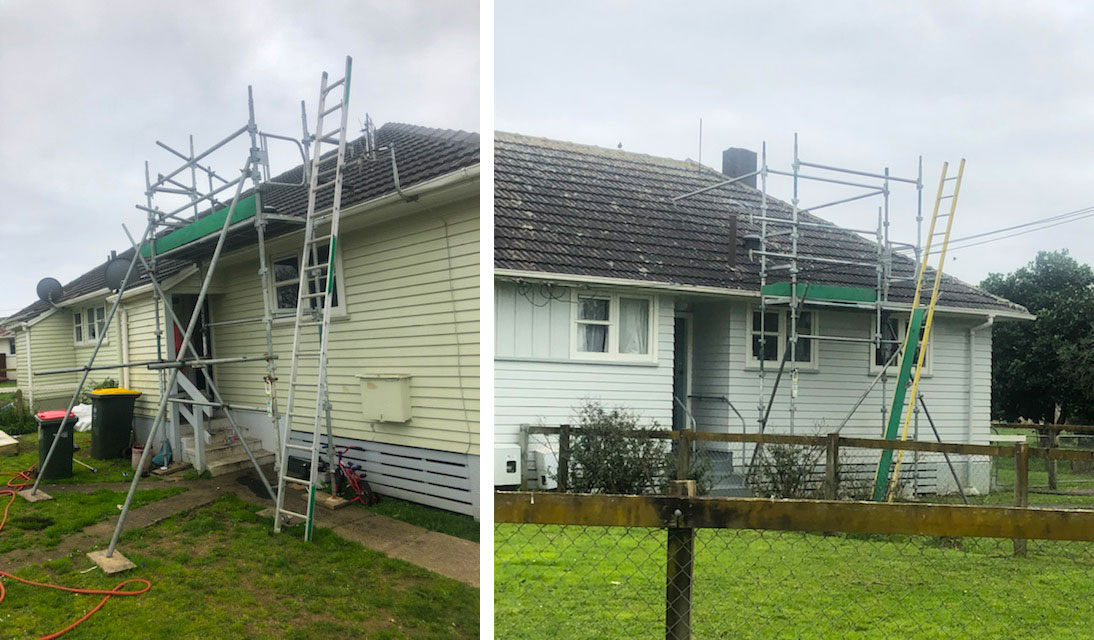roof access scaffolding tower housing nz